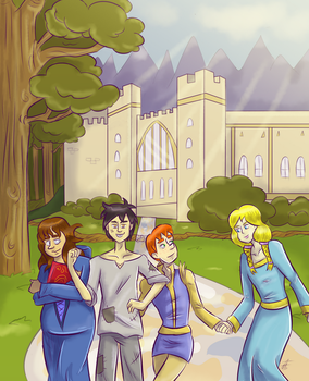 A-prompt-il 2017-Day 29: Group Pic Redraw by SquirrelKitty76
