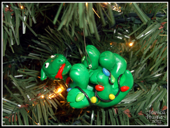Bob the Retarded Basilisk Christmas Ornament II by AnahRessa