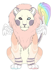 Lion design commission by Mespehria