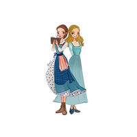 Disney's Belle and Ella by DragonShinyFlame