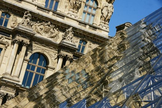 Differents views of the Louvre by Heurchon