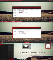 Red Black mn Theme For Windows 7 by Cleodesktop