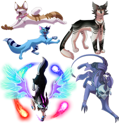 Commissions batch(1) by Wolfhowler9880