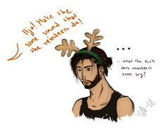 What does a reindeer say? by K1zzy