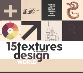 15 design textures by Butterphil by Butterphil