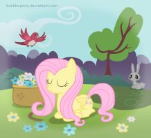 Fluttershy in tranquility by BucklerPony