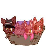 Basket Of The Opposite by Cookie-and-her-foxes