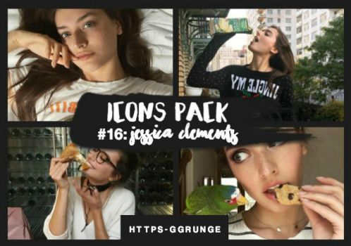 SITEMODELS ICONS PACK - #16: Jessica Clements. by https-ggrunge