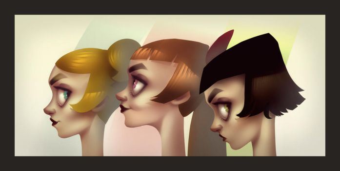 The Powerpuff Girls by andrahilde