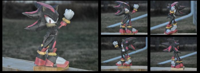 [PAPERCRAFT] Shadow the Hedgehog by TheNinToaster