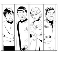 Lineart panels - Star Trek TOS by Dahkur