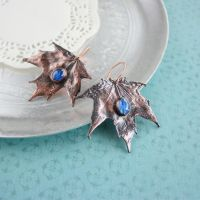 Under the Skyes_Copper earrings by WhiteSquaw