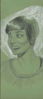 Woman with bright smile by Heterodoxist