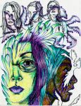 Dried Colored Markers by lil-Spanish-gurl