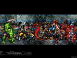 Marvel Mayhem by Stu-Mc
