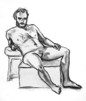 Male life drawing by Awstein