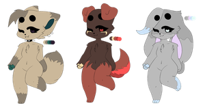 10pt Adopts (3/3) (CLOSED) by SquirrellyQueen