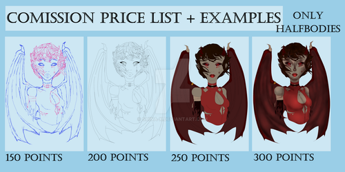Comission list price by Shina-X