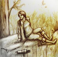 Katniss - How It Used To Be by spectre-draws