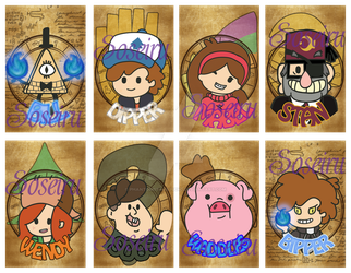 Gravity Falls Badges by PhantomStarStudio