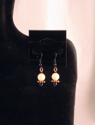 Copper and Stone Drop Earrings by twin-blades