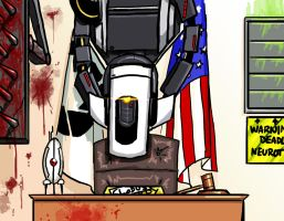GLaDOS stands in for Judge Judy by DeepChrome