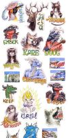 Rainfurrest badges by rah-bop