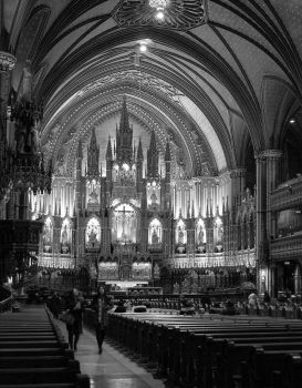 Notre Dame in grayscale by TheBrassGlass