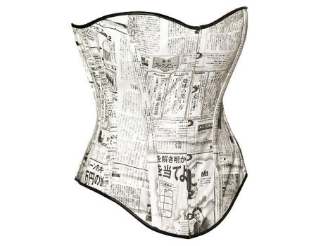 Japanese Newspaper Corset by Me-Se
