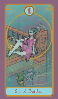 Legend of Tarot - 6 of Bottles by TheMightyPegasus