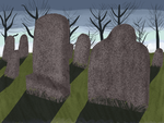 Graveyard Background - Fire Alpaca Painting by AshWolf-Forever