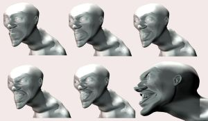 3d FACES by locohead