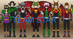 Kisekae-Infinity Roomies: Team Star by Infinity-Prime