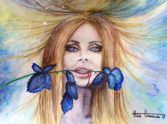 Lana Del Ray Watercolour by Halinka1803
