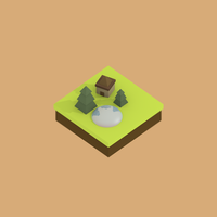 Low Poly: Model Island by Gindew