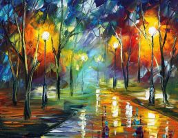 Loving Night by Leonid Afremov by Leonidafremov