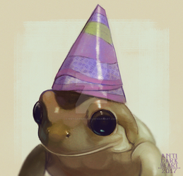 Party Frog - Commission by AntiDarkHeart