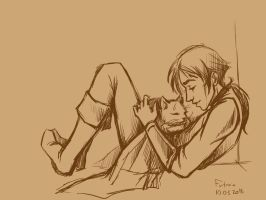 With Cat by Aniril-Amakiir