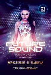 Future Sound Party Flyer Template by styleWish