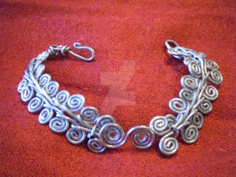 Egyptian Spiral Cuff by sphinxfalcon