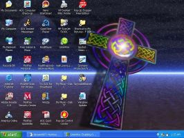Celtic Cross Desktop by HuntressGuya