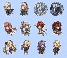 Fire Emblem Fates Chibis (Batch 1) by Dakiarts