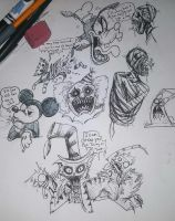 Weird Time Sketches by albinoraven666fanart