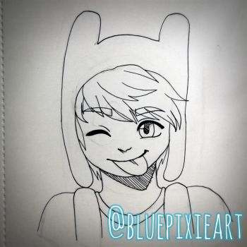 Inktober 2017 Day 16 - Finn the Human by BluePixieArt
