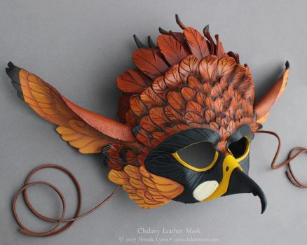 Chaluny - Leather Gryphon Mask by windfalcon