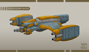 Outer-System Fighter by Luneder
