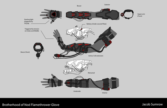 Brotherhood of Nod Inspired Flamethrower Glove by Scorpiu5