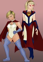 Supergirl-Power Girl Redesign by StolenThunder
