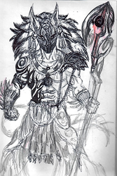 Tribal deity (unfinished) by DragonFistArtist900