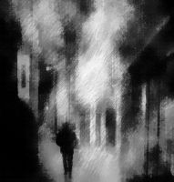 Lonely Night Walking by ParallelDeviant
